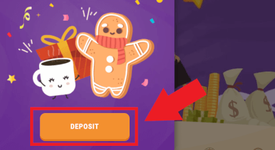deposit geld in cookie account