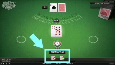 insurance blackjack ja of nee