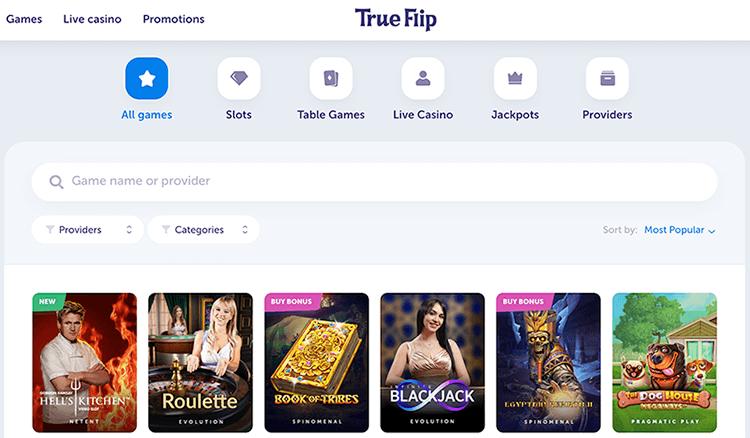 Ontdek duizend spellen bij True flip