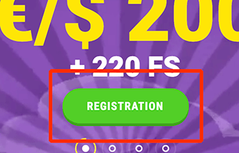 Klik op de knop registration