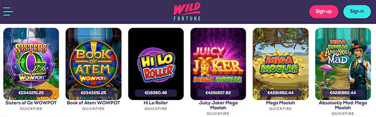 Speel zelfs op je favoriete jackpot slots